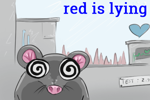red is lying