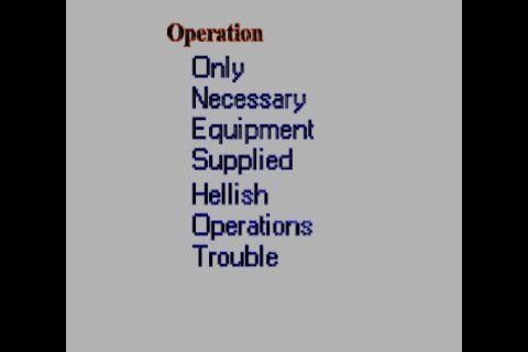 Operation O.N.E.S.H.O.T.